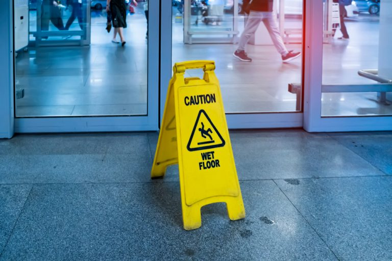 slippery floor at retail store - Ottawa Slip and Fall Lawyer